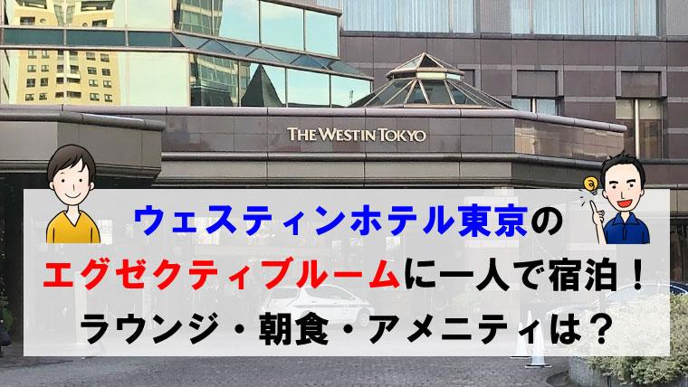 ウェスティンホテル東京のエグゼクティブルームに一人で宿泊!!ラウンジ・朝食・アメニティは?