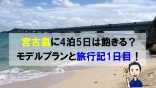 宮古島に4泊5日は飽きる?モデルプランと旅行記1日目!
